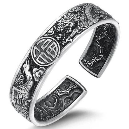 dragon cuff bracelet sterling