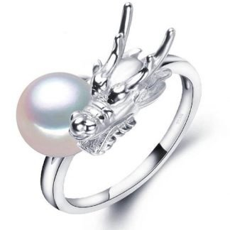silver dragon ring womens