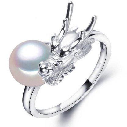 silver dragon ring womens