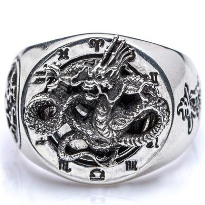 Dragon Sterling Silver Ring