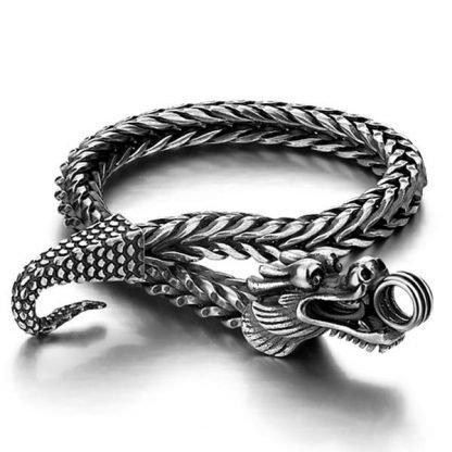 Thai Silver Dragon Bracelet