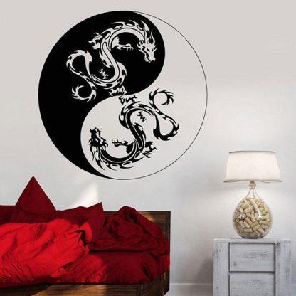 Yin Yang Dragon Sticker wall