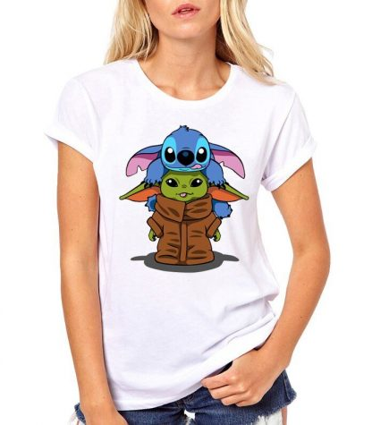 Baby Yoda And Stitch Shirt