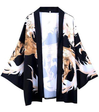 Dragon Kimono Black And Gold