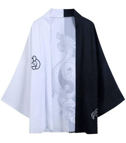 Black And kimono White