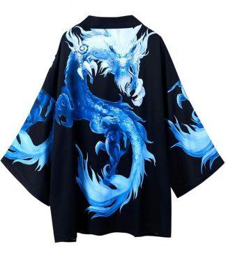 Blue Kimono Cardigan