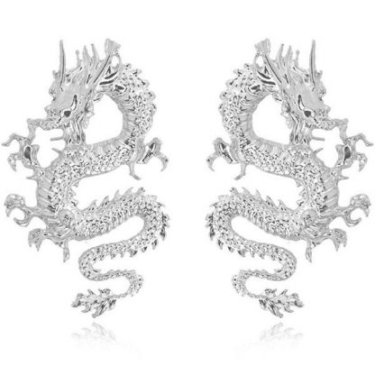 Chinese earrings Dragon