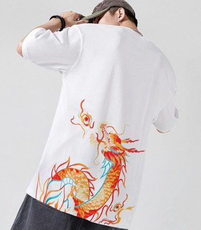 Chinese t shirt Dragon Flaming