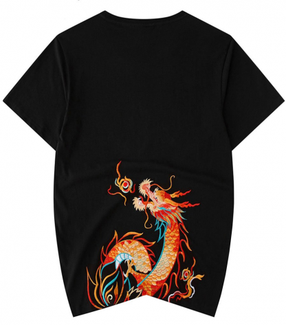 Flame Chinese Dragon Tee Shirts