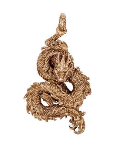 Copper Dragon Keychain
