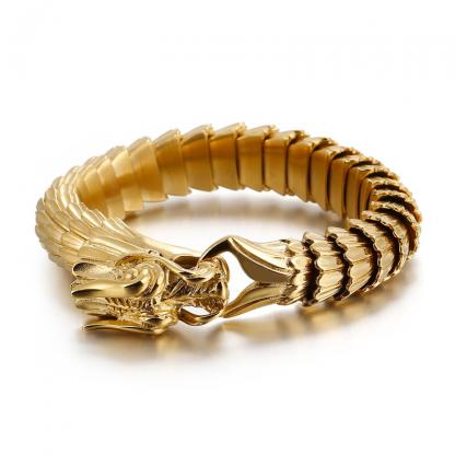 Dragon Head Bracelet Gold