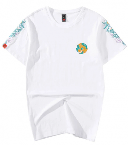 embroidered t shirt Dragon