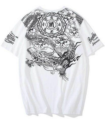 Flowered t shirt Dragon