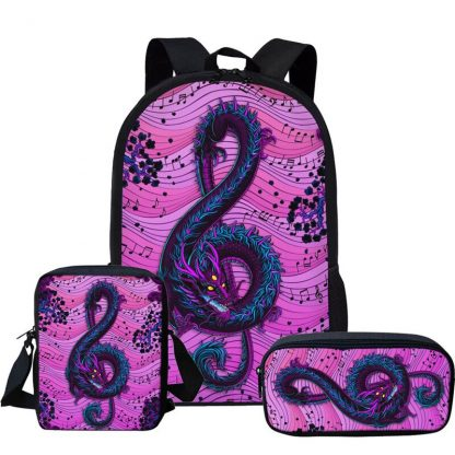 Clef purple Dragon Backpack