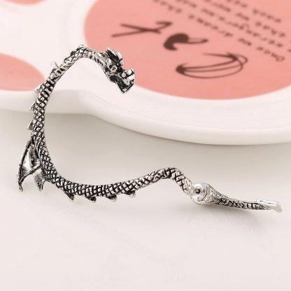 Dragon Earrings silver Cuff