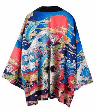 Kimono Dragon Print
