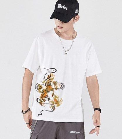 Mens tee Dragon t shirt
