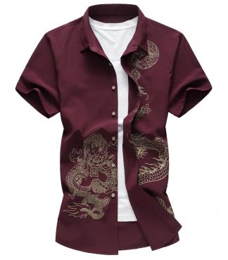 Oriental Dragon Haori Shirt