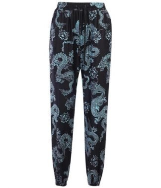 Pants With Dragon Design