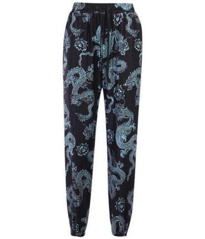Pants With Dragon Design
