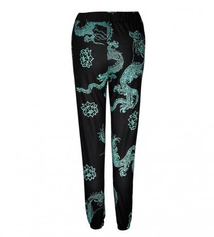 Printed Dragon Pants