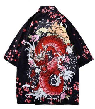japanese Red Dragon Kimono