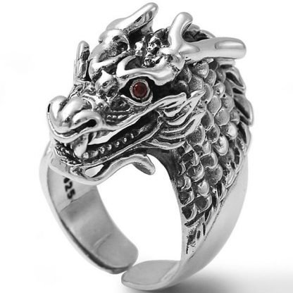Silver Dragon Ring