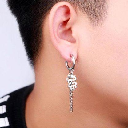 Dragon Earrings chain