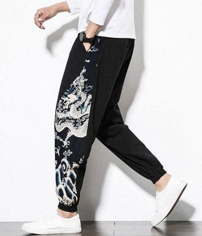 Oriental pants Dragon