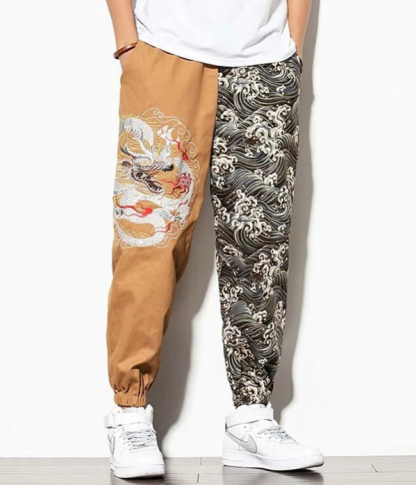 Cargo Pants With Dragon