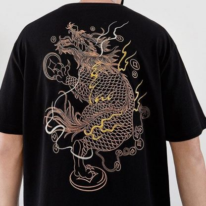 t shirt China Dragon Embroidery