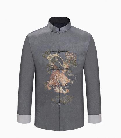 Chinese gray Shirt