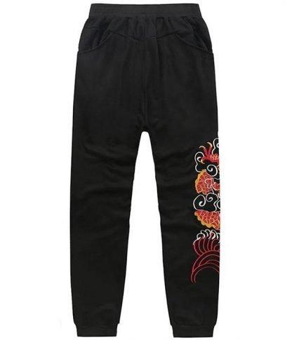 pants Dragon Embroidered