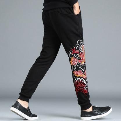Dragon pants Embroidered