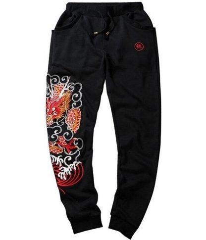 Dragon Embroidered Pants