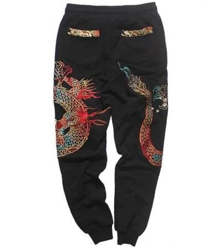Dragon trousers pants Embroidered