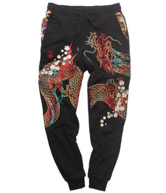 Dragon Embroidered Trousers pants