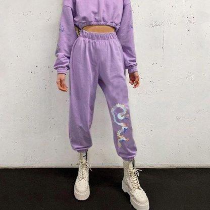 dragon pants purple
