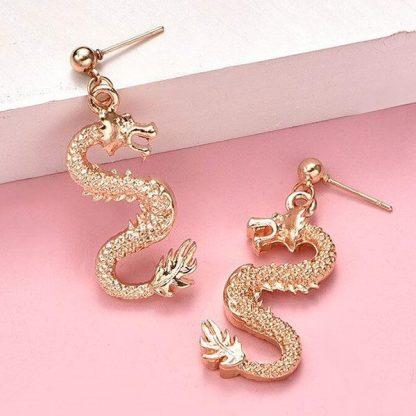 Dragon gold Earrings