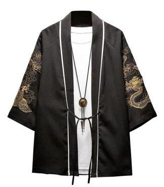 Haori Cardigan Dragon Kimono