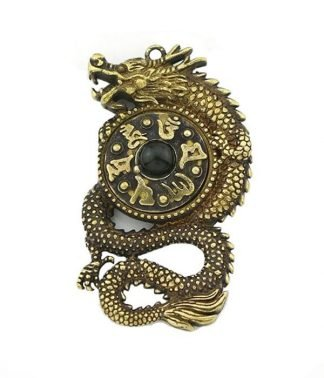 Tibetan Dragon Ring Chain keychain