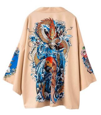 Womens Kanji Kimono