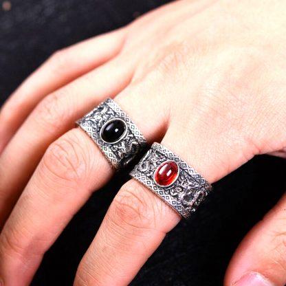 Black ring Onyx Dragon