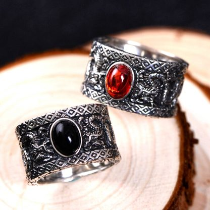 ring Black Onyx Dragon