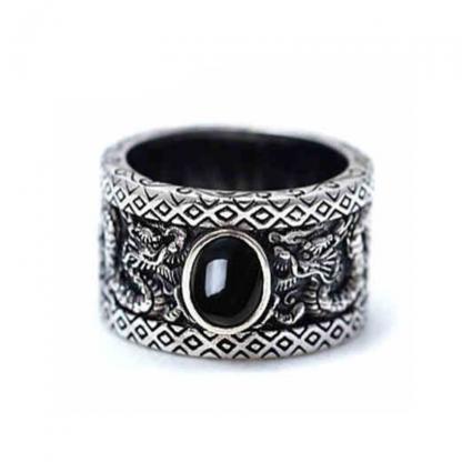 Black Onyx Dragon Ring