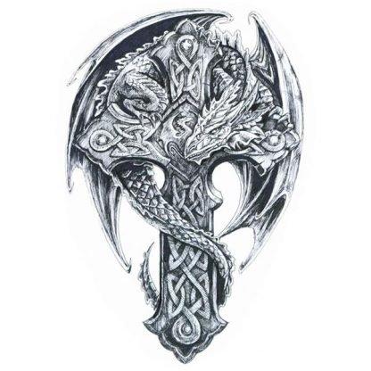 Celt Temporary Dragon Tattoo celtic