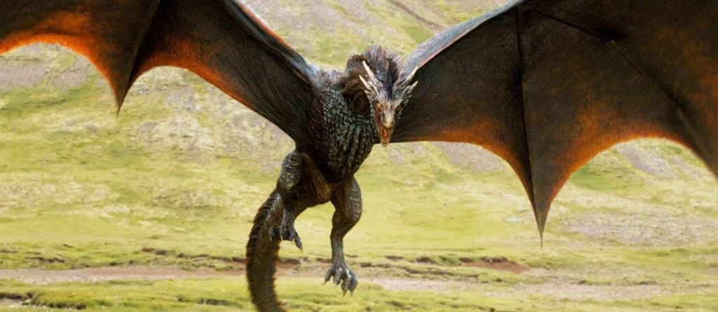 Daenerys' Dragons feed sheep