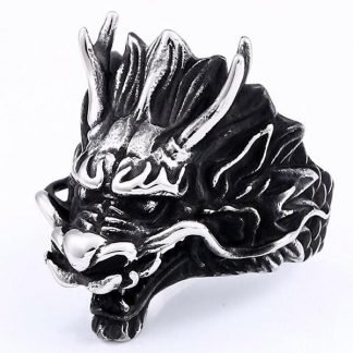 Dragon Head Ring Steel