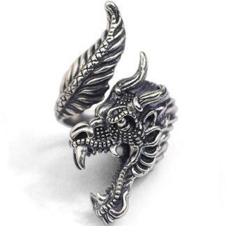 angry dragon ring