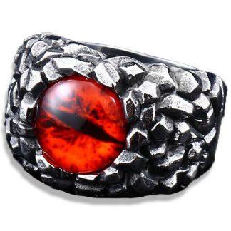 Evil Eye Dragon Ring